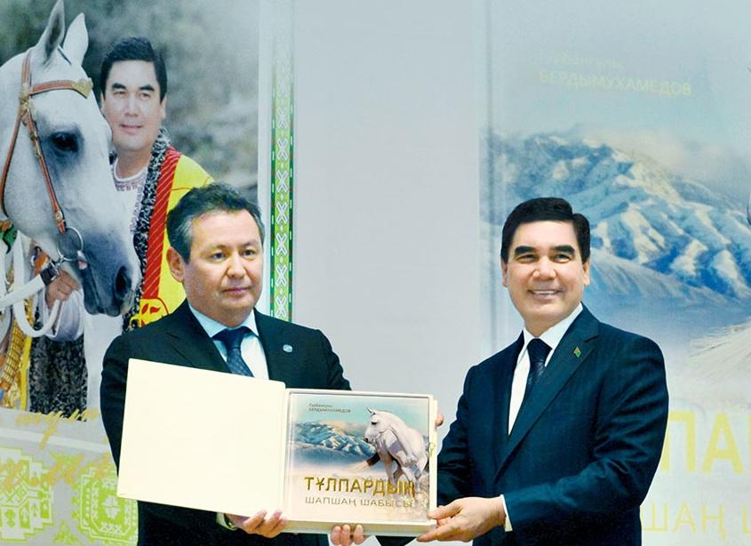Gazagystanyň Milli muzeýinde hormatly Prezidentimiz Gurbanguly Berdimuhamedowyň Gazak Dilindäki Neşirleriniň Tanyşdyryş Dabarasy Boldy
